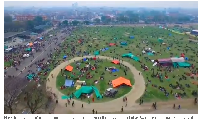Nepal quake_camped out