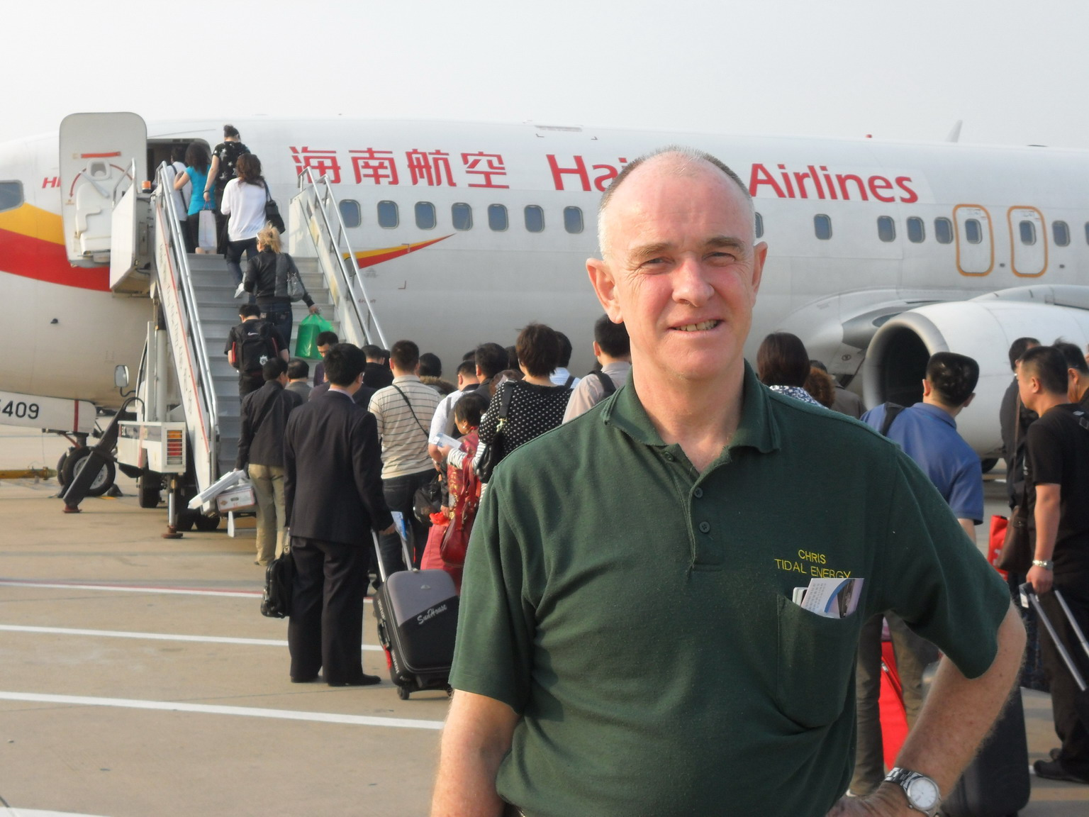 Leaving on flight from Shenzhen