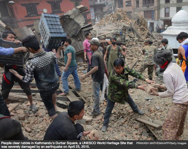 Nepal quake_Durbar Square