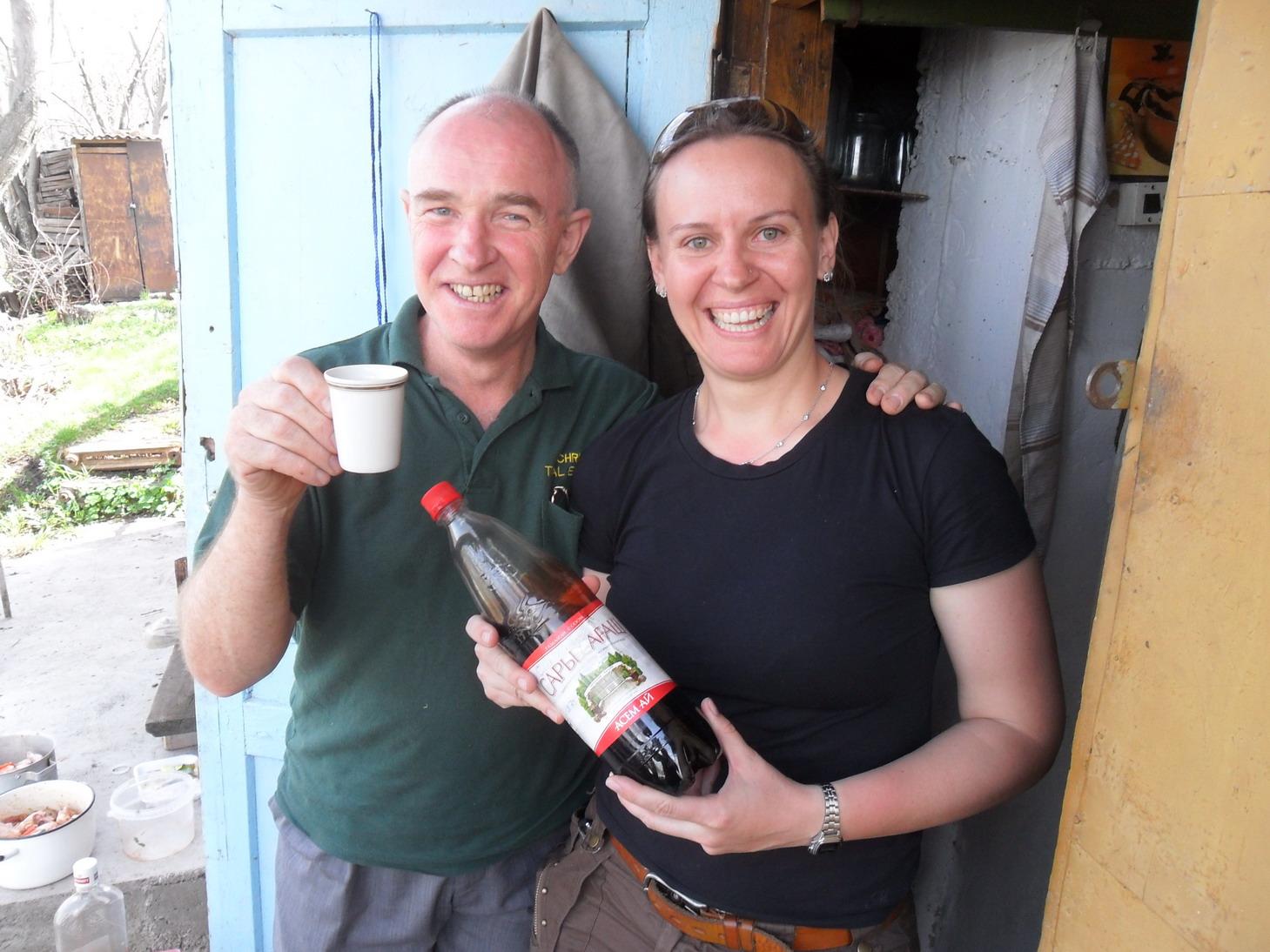 Home-made cherry wine