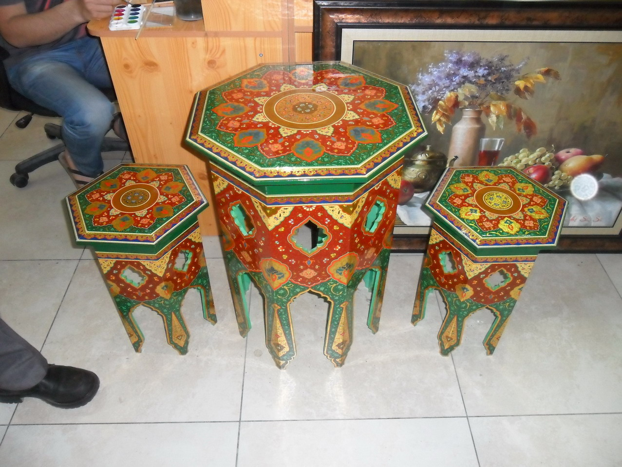 Ornate hand-made furniture