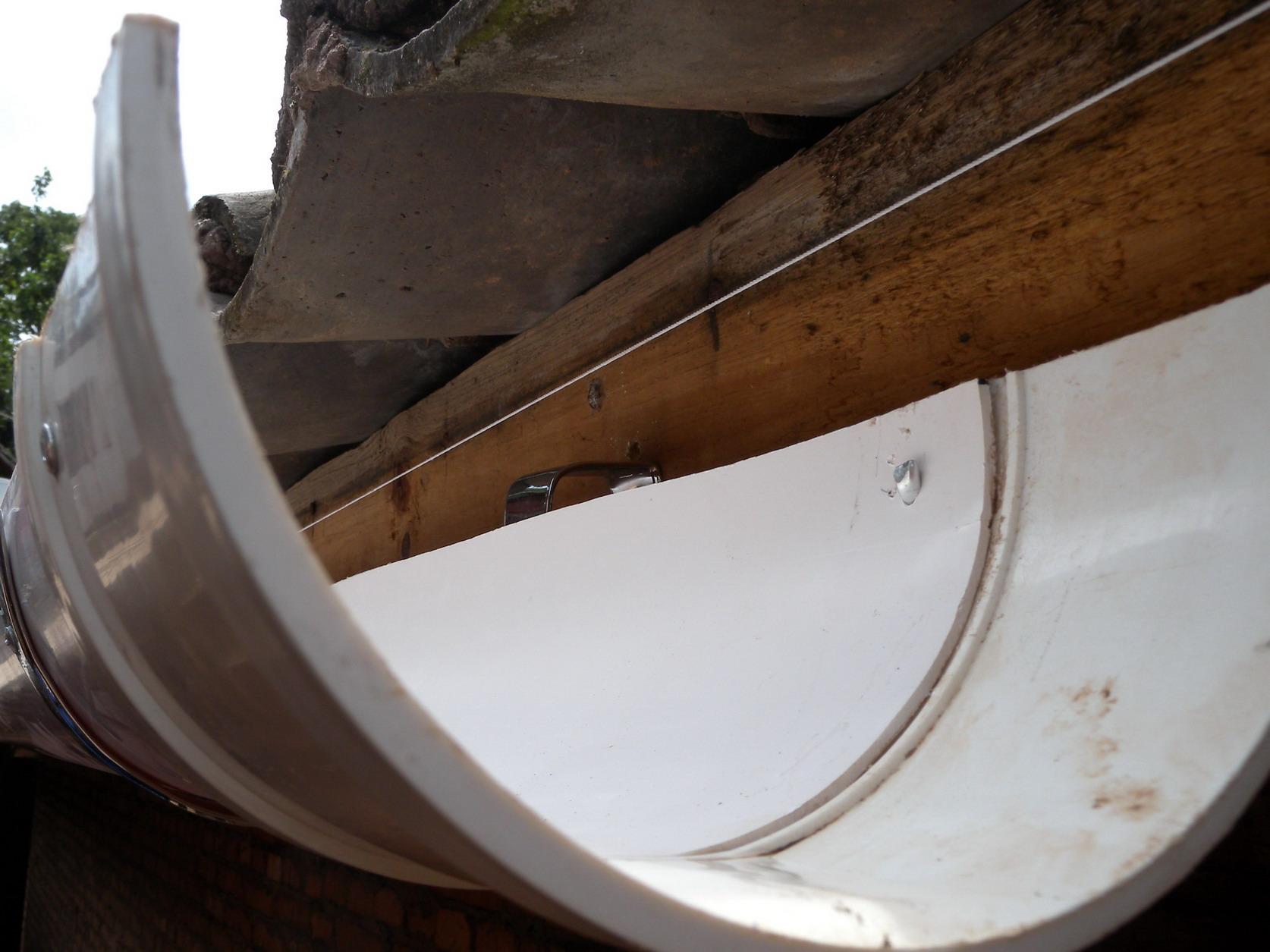Split 160mm PVC pipe