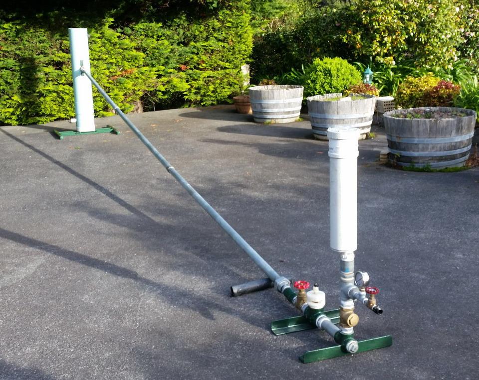 Demonstration ram pump in New Zealand